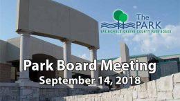 Park Board Meeting – September 14, 2018