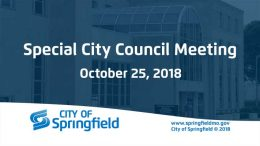 Special City Council Meeting – October 25, 2018