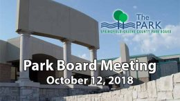 Park Board Meeting – October 12, 2018