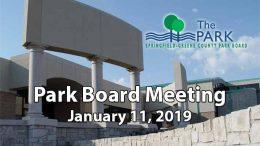 Park Board Meeting – January 11, 2019