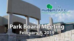 Park Board Meeting – February 8, 2019