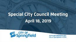Special City Council Meeting – April 18, 2019