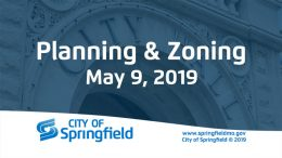 Planning & Zoning Meeting –   May 9, 2019