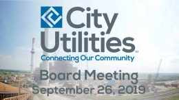 City Utilities Board Meeting – September 26, 2019