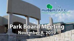 Park Board Meeting – November 8, 2019