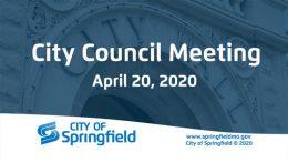 City Council Meeting – April 20, 2020