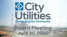 City Utilities Board Meeting – April 30, 2020