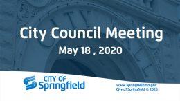 City Council Meeting – May 18, 2020
