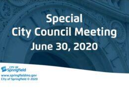 Special City Council – June 30, 2020