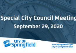 Special City Council Meeting – September 29, 2020