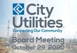 City Utilities Board Meeting – October 29, 2020