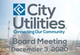 City Utilities Board Meeting – December 3, 2020