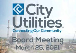 City Utilities Board Meeting – March 25, 2021