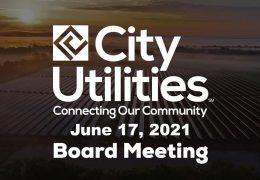 City Utilities Board – June 17, 2021