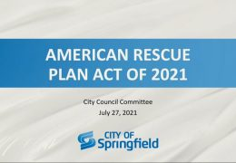 American Rescue Plan Act 2021 Committee – July 27,  2021
