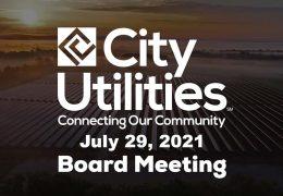 City Utilities Board – July 29, 2021