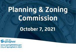 Planning & Zoning – October 7, 2021